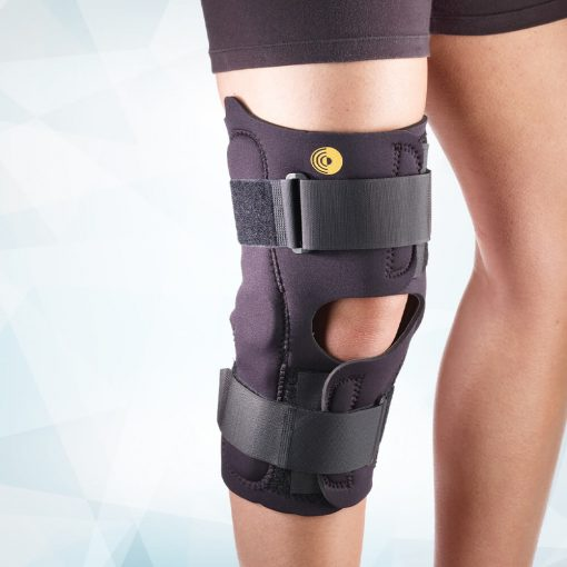 "Cooltex Knee Wrap With ROM Hinge 13"" Open Popliteal"